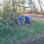 Working party restoring Blackleach orienteering course